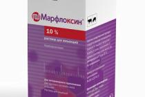 Марфлоксин 10% раствор для инъекций