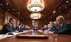 Премьер-министр РФ Д.Медведев провел совещание о механизмах поддержки агропромышленного комплекса