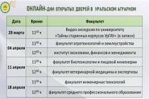 УрГАУ проведет Дни открытых дверей в онлайн-формате